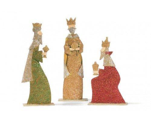 Figuras de los Reyes magos. Adornos de Navidad