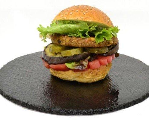 Hamburguesa Vegetal de Escalibada. Integran un sabor tan conocido como el de la escalibada