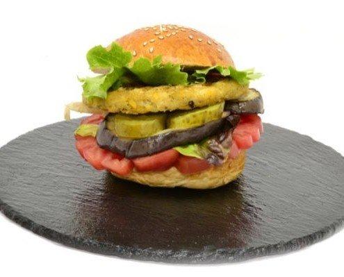 Hamburguesa Vegetal de Guacamole. Incorpora aguacate