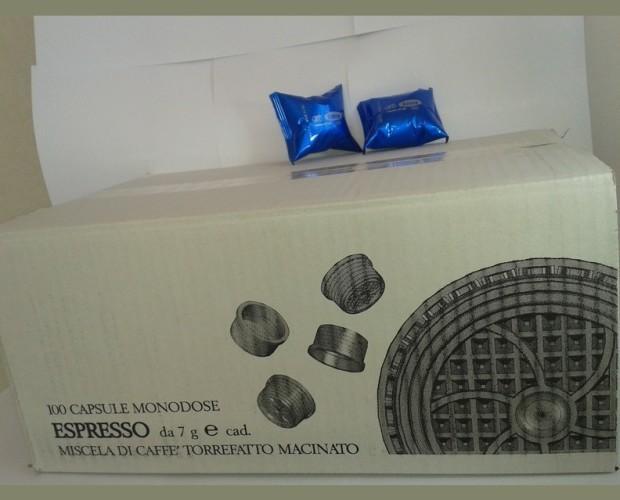 Espresso en cápsulas. 100 cápsulas monodosis