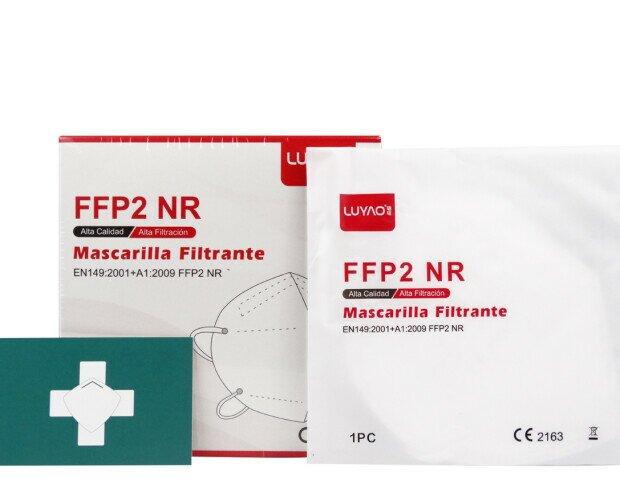 Mascarilla FFP2. Desde 0,48€/ud. Se venden en cajas de 20 unidades.