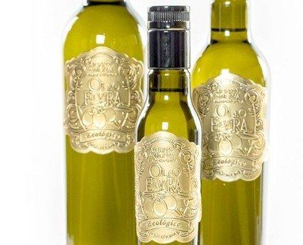 Oleo Elvira Ecológicojpg. Zumo de oliva ecológico de extracción en frío y sin filtrar.
