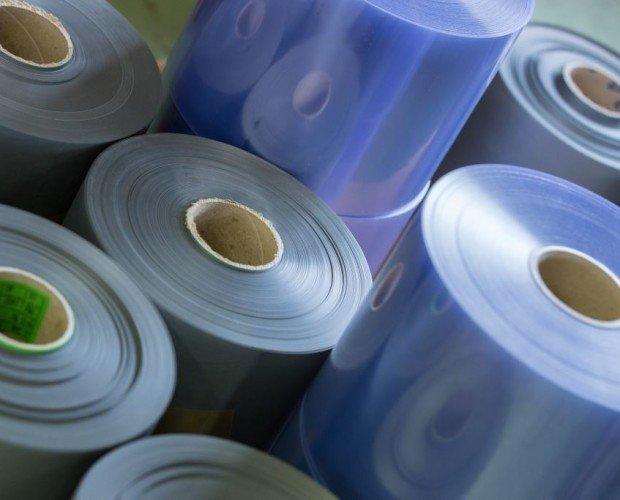 Rollos de plástico. binas de plástico