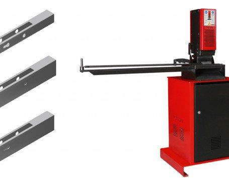 Troqueladora hidráulica de cerraduras. Perforación rápida y precisa del cajeado, maneta y bombín en tubo vacío