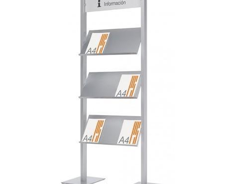 Equipamiento para Tiendas y Supermercados. Expositores de Metal. Expositor para revistas y catálogos