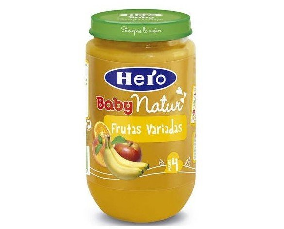 Hero baby. Frutas variadas 250 GR