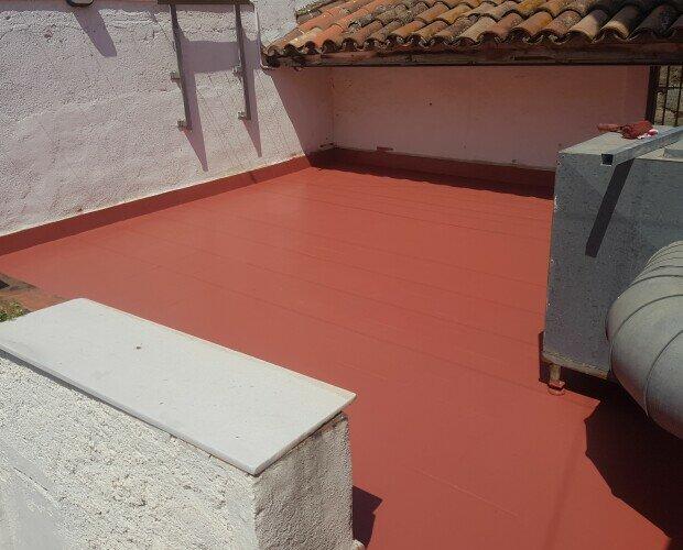 Terraza 1. Impermeabilización de terraza con membrana continua de poliuretano y 25 años garantía