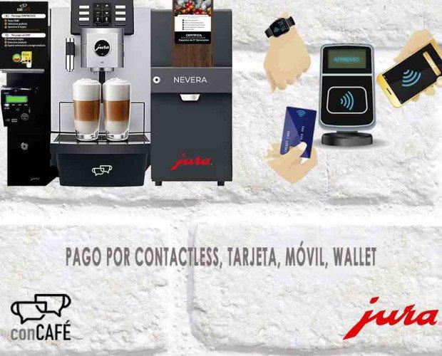 Jura Contactless. Sistema de pago contactless, el mejor coffee shops sin asistencia para hoteles.