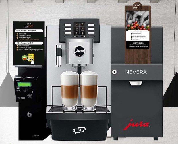 Jura Monedero. CONTACTLESS, hace accesible la experiencia café con leche natural en cualquier sitio