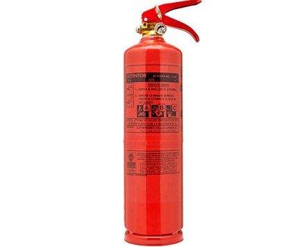Extintor 3kg polvo ABC. Idóneo para su uso en vehículos particulares o en su vivienda.