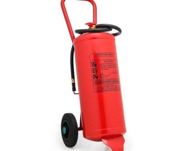 Extintor de espumógeno y agua. Alta eficacia obtenida 87A 470B