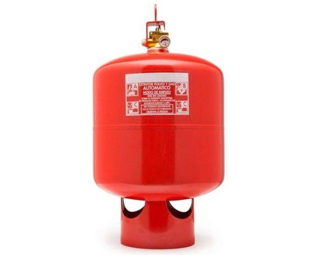 Extintor 9kg automático polvo ABC. Disparo automático con Sprinkler. Ampolla sensible a 68ºC.