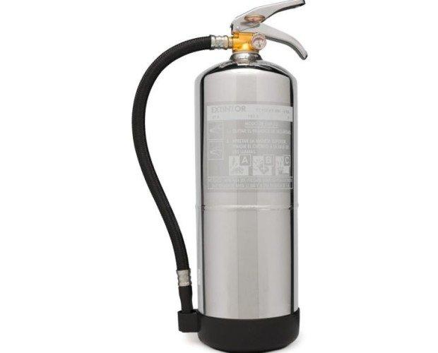 Extintor cromado 6kg. Para dar un toque elegante a su hogar, oficina, vehículo, empresa,etc.