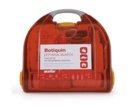Botiquín primeros auxilios. Botiquín de primeros auxilios completo y adecuado para casos de emergencia.