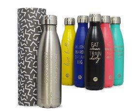 Botellas.Aislamiento al vacio, Resistentes personalizables