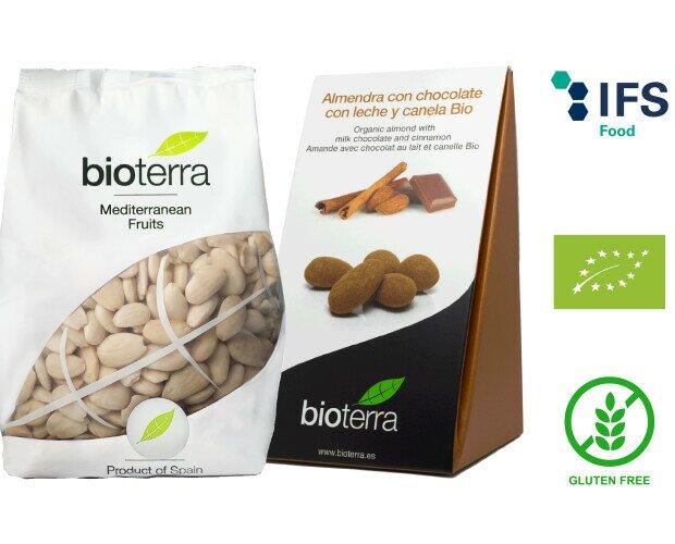 Snacks Ecológicos Bioterra. Surtido de Frutos Secos, Deshidratados y Snacks Ecológicos, todos Sin Gluten.