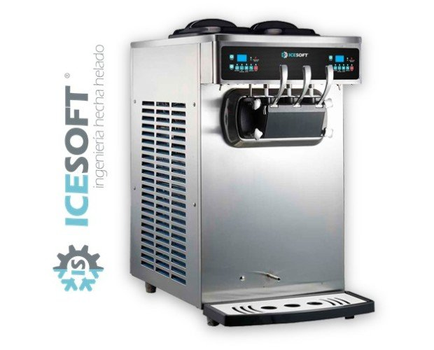 ICESOFT IS-S50. Máquina de helado de tres grifos, 50 Litros/h.