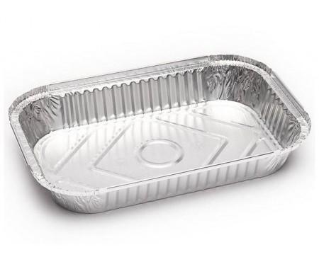 Envase de Aluminio Rectangular. Envase de Aluminio Rectangular de rizo