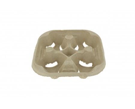 Porta vasos de cartón 4 huecos. Producto reciclable