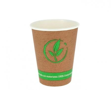 Vasos de cartón BIO. Vasos café para llevar biodegradable