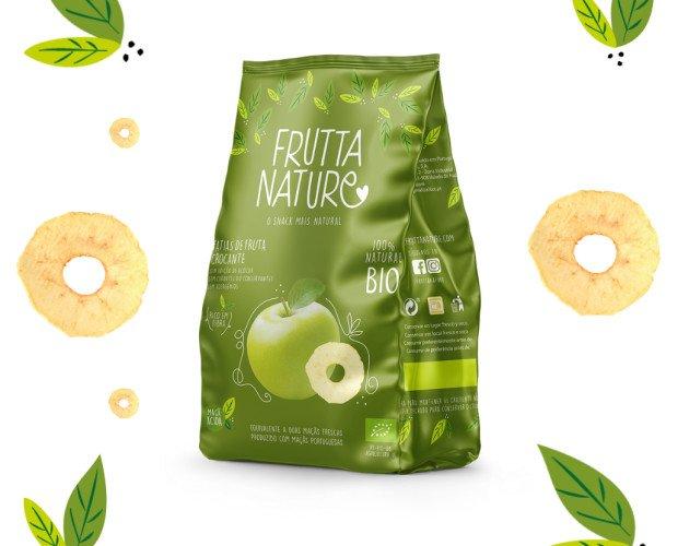 Snack Manzana BIO. Frutta Nature Manzana Ácida BIO. Snack Saludable elaborado 100% a base de fruta deshidratada natural.