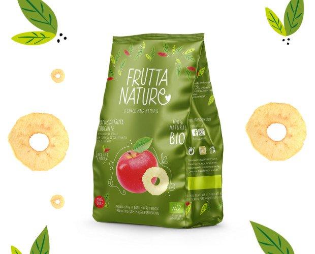 Snack Manzana BIO. Frutta Nature Manzana Dulce BIO. Snack Saludable elaborado 100% a base de fruta deshidratada natural.