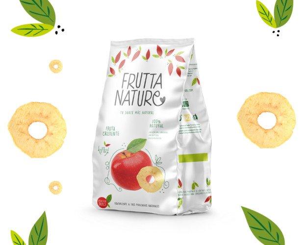 Snack Manzana Dulce. Frutta Nature Snack Manzana Dulce Fruta deshidratada. 100% natural