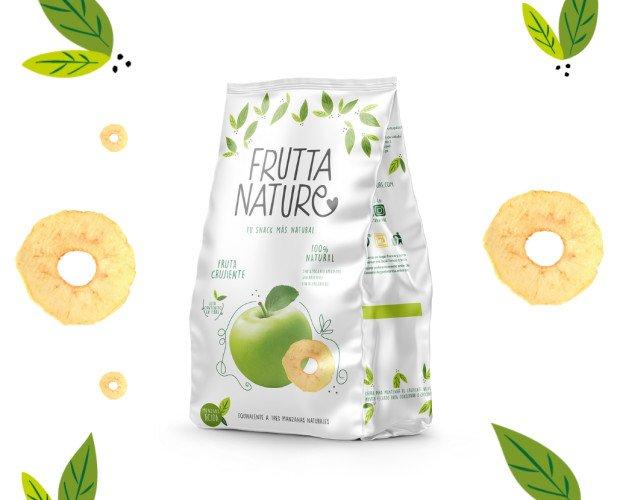 Snack Manzana Ácida. Frutta Nature Snack Manzana Ácida Fruta deshidratada. 100% natural