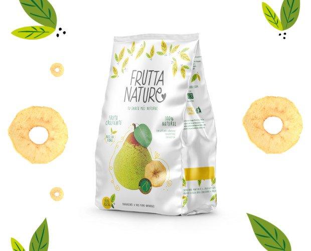 Snack Pera Rocha. Frutta Nature Snack Pera Rocha Fruta deshidratada. 100% natural