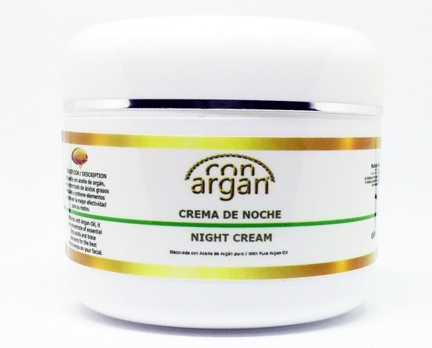 Cremas Faciales Nutritivas Naturales.Crema de noche elaborada con aceite de argán