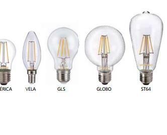 Led Retro claro. Diseñadas para crear un ambiente cálido similar al de las lámparas tradicionales