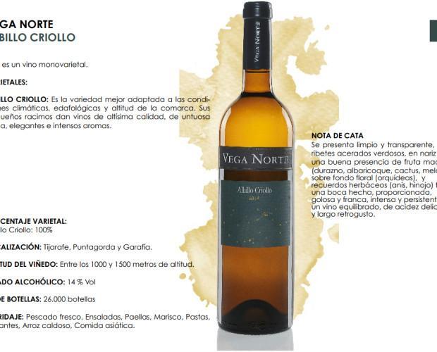 Vega Norte Albillo Criollo. Vino monovarietal criollo