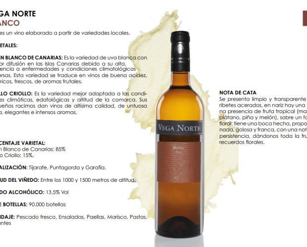 Vega Norte Blanco. Listán blanco de Canarias y Albillo Criollo
