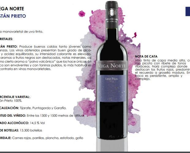 Vega Norte Listán Prieto. Vino monovarietal de uva tinta