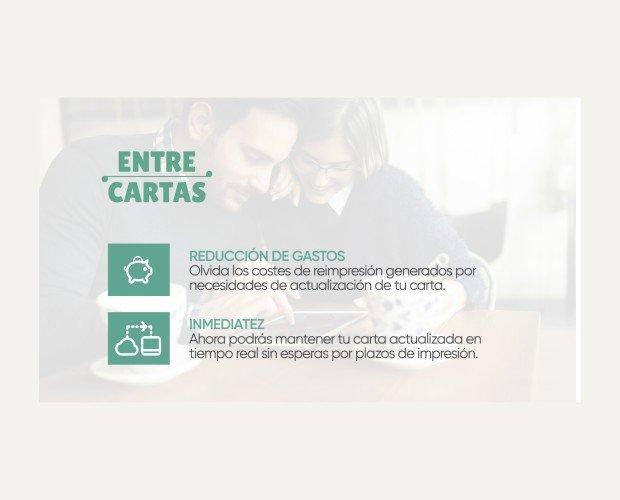 Diseño de Cartas para Hostelería.Reducción de gastos, inmediatez en la atención al cliente.