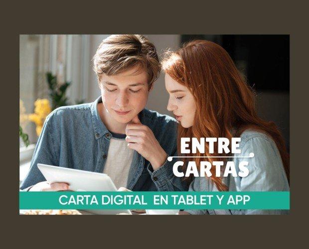 Carta digital. En tablet y APP