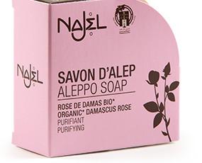 Artículos de Baño Naturales. Jabones Naturales. Jabón de Alepo con Rosa de Damasco