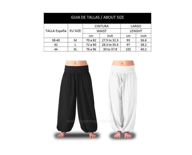 Pantalones de Mujer.En colores lisos y disponibles en tres tallas.