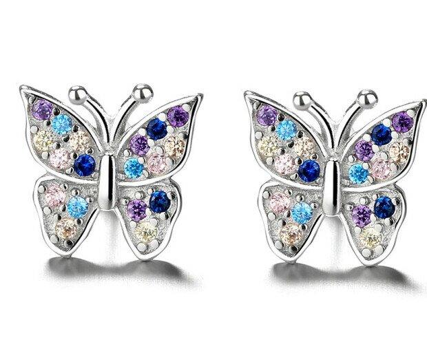 Pendientes Mariposa. Pendientes de mariposa de plata de ley 925