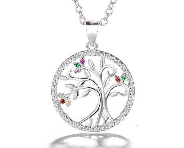 Colgante Árbol de la vida. Colgante en forma de árbol de la vida fabricado en plata de ley 925