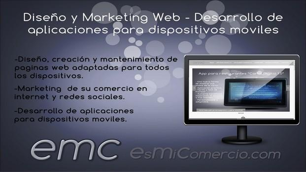 Diseño y marketing. Diseño web y marketing online