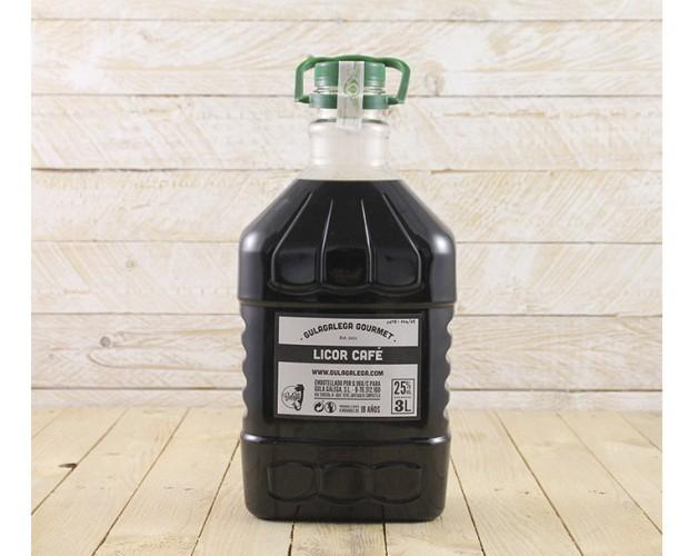 Licor Café PET 3L. Licor Café GulaGalega Gourmet 25% vol PET 3 litros
