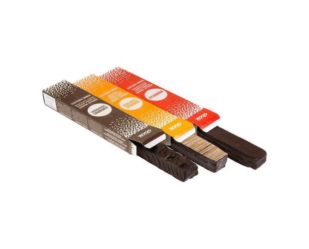 Barras de chocolate. Chocolate crujiente