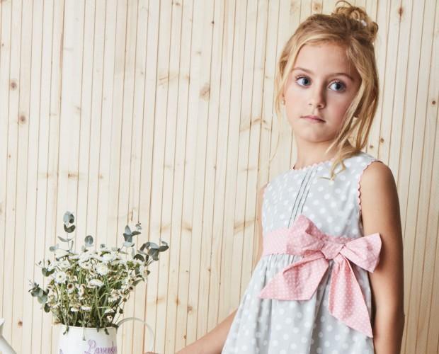 Vestidos Infantiles.Vestido topos