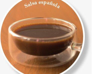 Salsa Española. Fondo oscuro natural de ternera
