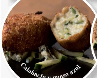 Calabacín y queso azul. Producto artesano