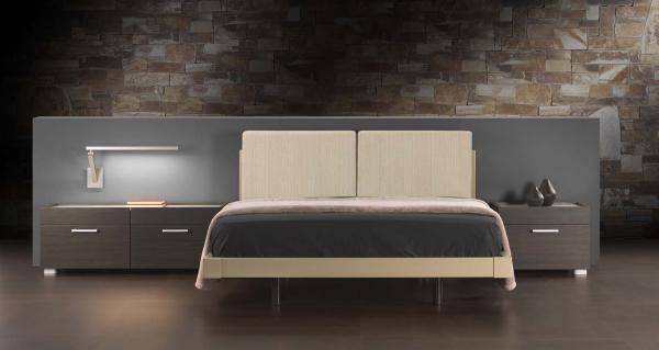 Dormitorio. Camas y mesas de noche varios diseños