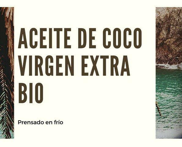Aceite de coco. Aceite de coco virgen extra BIO