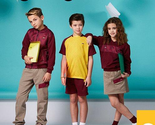 Uniformes Escolares.camiseta, bermuda, pantalón, falda, jersey, chaqueta