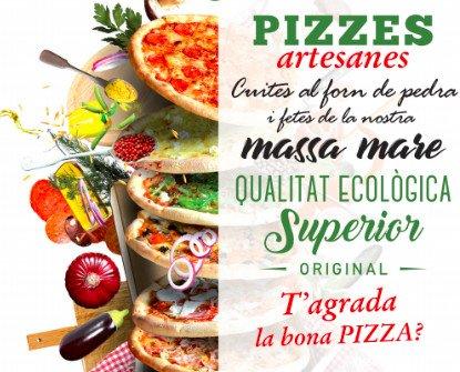 Pizzas artesanas. Calidad artesana